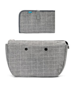 8802-Mother's-bag-internal-container-with-organised-spaces-and-changing-mat-Checkered-Grey