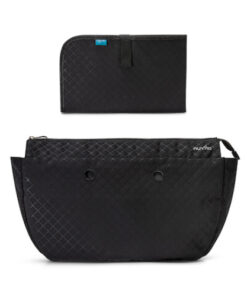 8802-Mother's-bag-internal-container-with-organised-spaces-and-changing-mat-Quilted-Black
