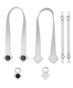 8803 - Manici + ganci laterali + ganci per passeggino - Silver