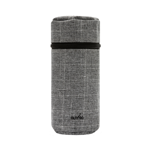 8805-Baby-bottle-holder-with-thermal-interior-Checkered-Grey