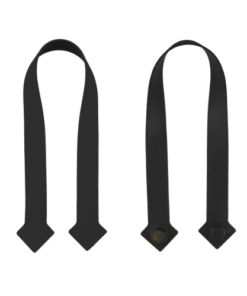 Set Manici, Ganci laterali e Ganci passeggino in pelle - Grigio